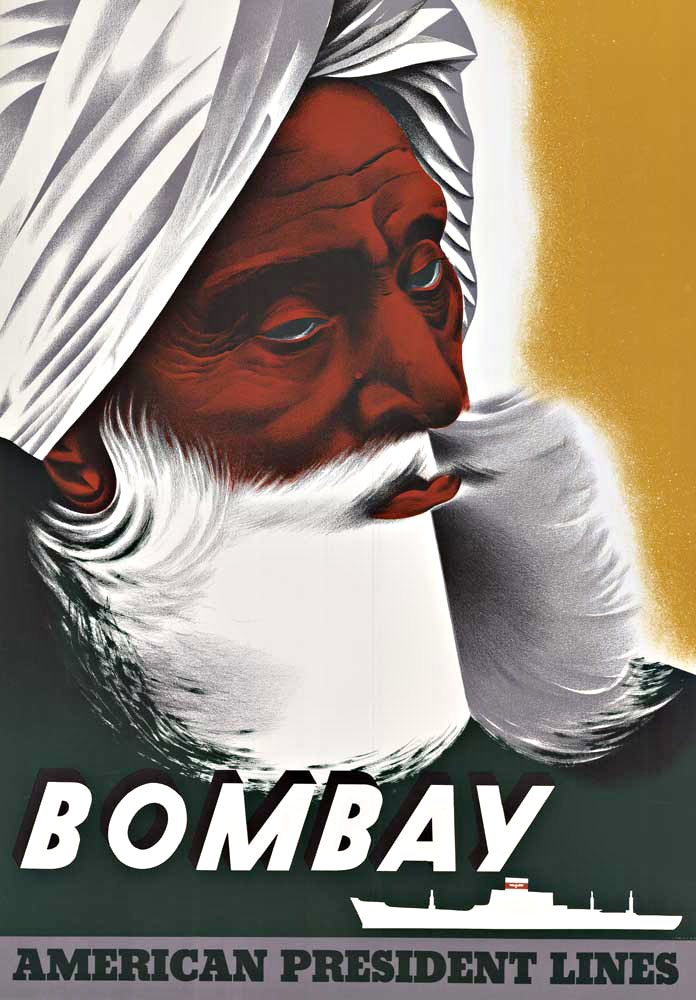 Anonymous Artists - BOMBAY AMERICAN PRESIDENT LINES border=