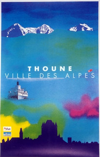 R. Hirter - Thoune Ville des Alpes border=