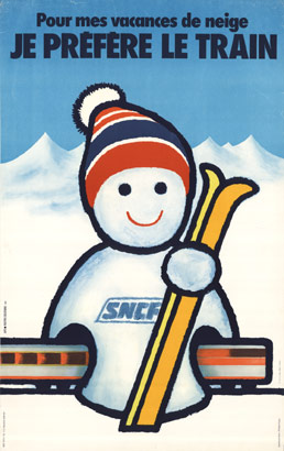 SNCF ski snowman, Anonymous Artists