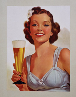 Girl with beer, Albert Fisher