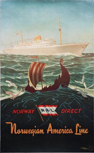 Norway Direct Norwegian America Line, Anonymous Artists