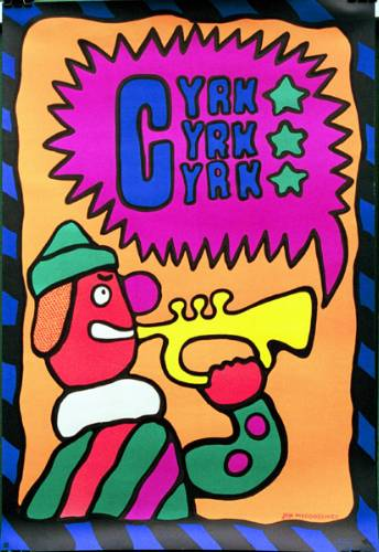 CYRK Clown with trumpet, Jan Mlodozeniec