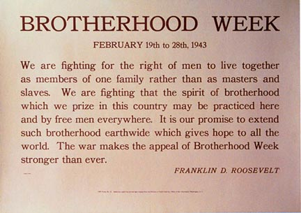 Brotherhood Week, Anonymous Artists