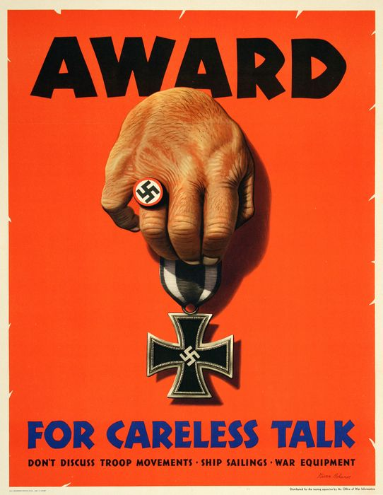 Stevan Dohanos - AWARD for careless talk border=