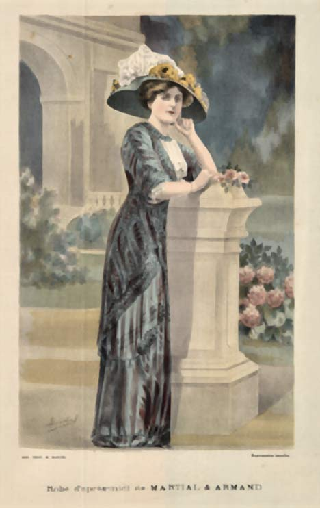 A. Souchel - Ladies' Fashion- Robe d'sprès-midi de Martial & Armand border=