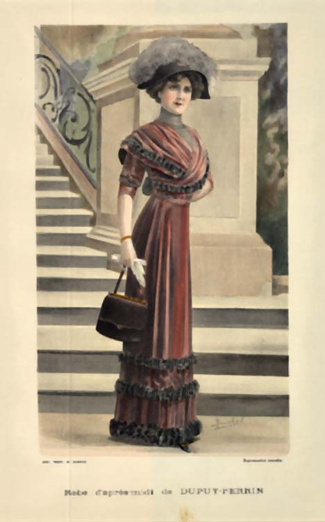 Ladies' Fashion- Robe d'apr�- midi de Dupuy- Perrin, A. Souchel