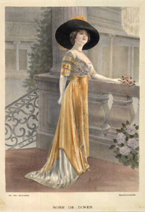 Ladies' Fashion- Robe de Diner, A. Souchel