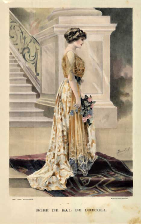 Ladies' Fashion- Robe de Bal de Drecoll, A. Souchel
