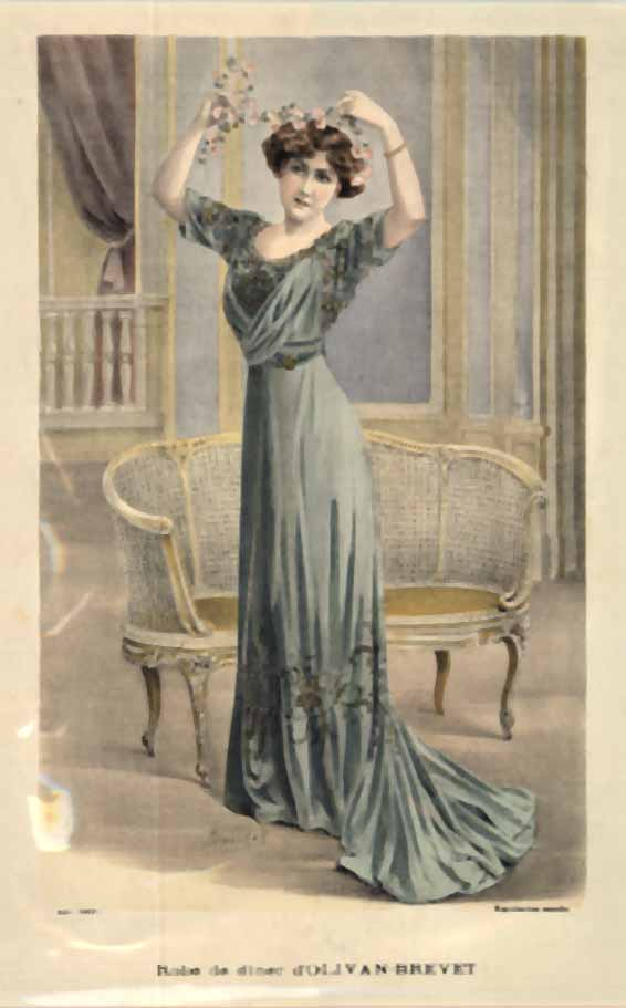 Ladies' Fashion- Robe de Diner d'Olivan- Brevet, A. Souchel