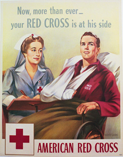 Your Red Cross is at his side, Whitman