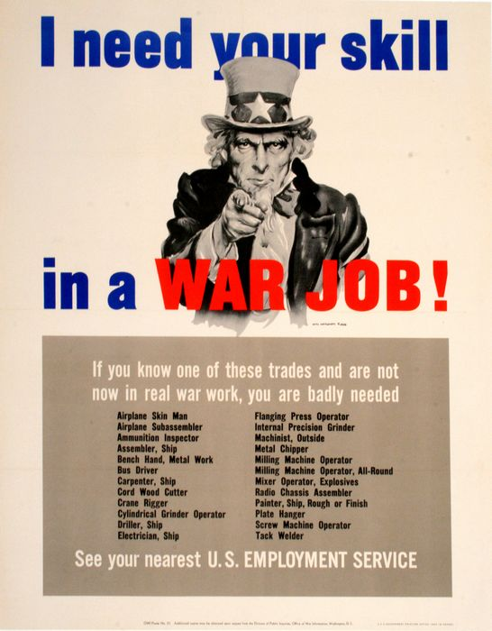 I Need Your Skill in a War Job! (S), James Montgomery Flagg