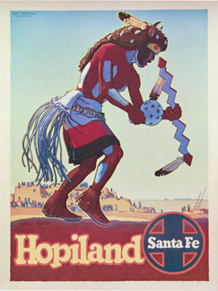 Santa Fe Hopiland Buffalo Dancer, Don Perceval