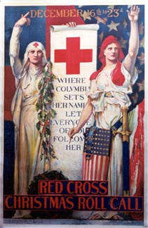 Edwin Howland Blashfield - Red Cross Christmas Roll Call (Large) border=