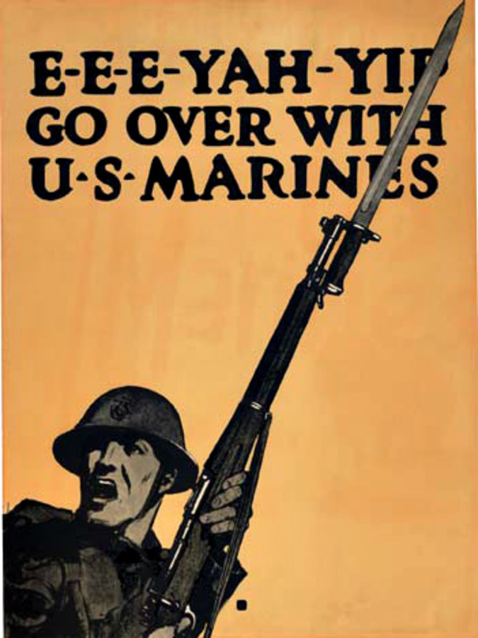Go Over With U.S. Marines, C. B. Falls