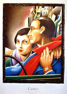 Anonymous Artists - Cartier Couple (Watches) border=