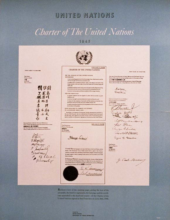 Charter of the United Nations, Anonymous Artists