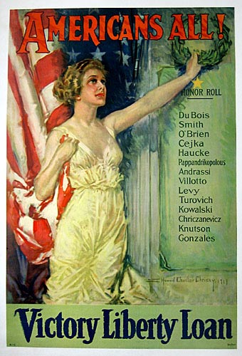 Howard Chandler Christy - Americans All Victory Liberty Loan border=