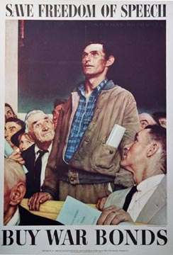 Norman Rockwell - Freedom of Speech (Small format) border=