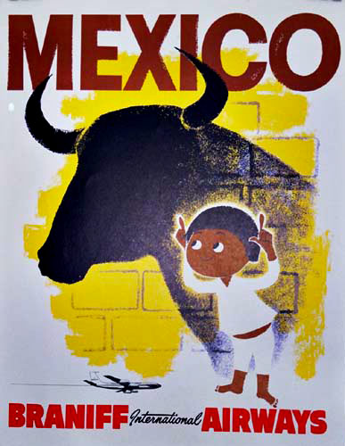Mexico Silly boy with Bull, Anonymous Artists