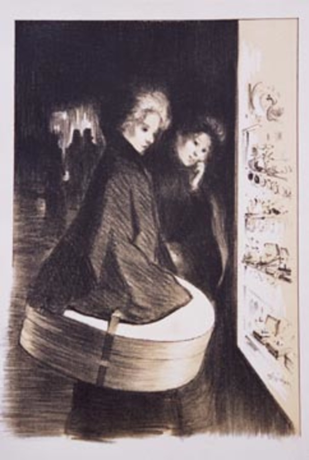 Theophile Alexandre Steinlen - Two Women Special Plate #6 border=
