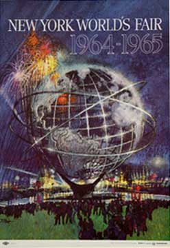 New York World's Fair - Blue (sm), Bob Peak