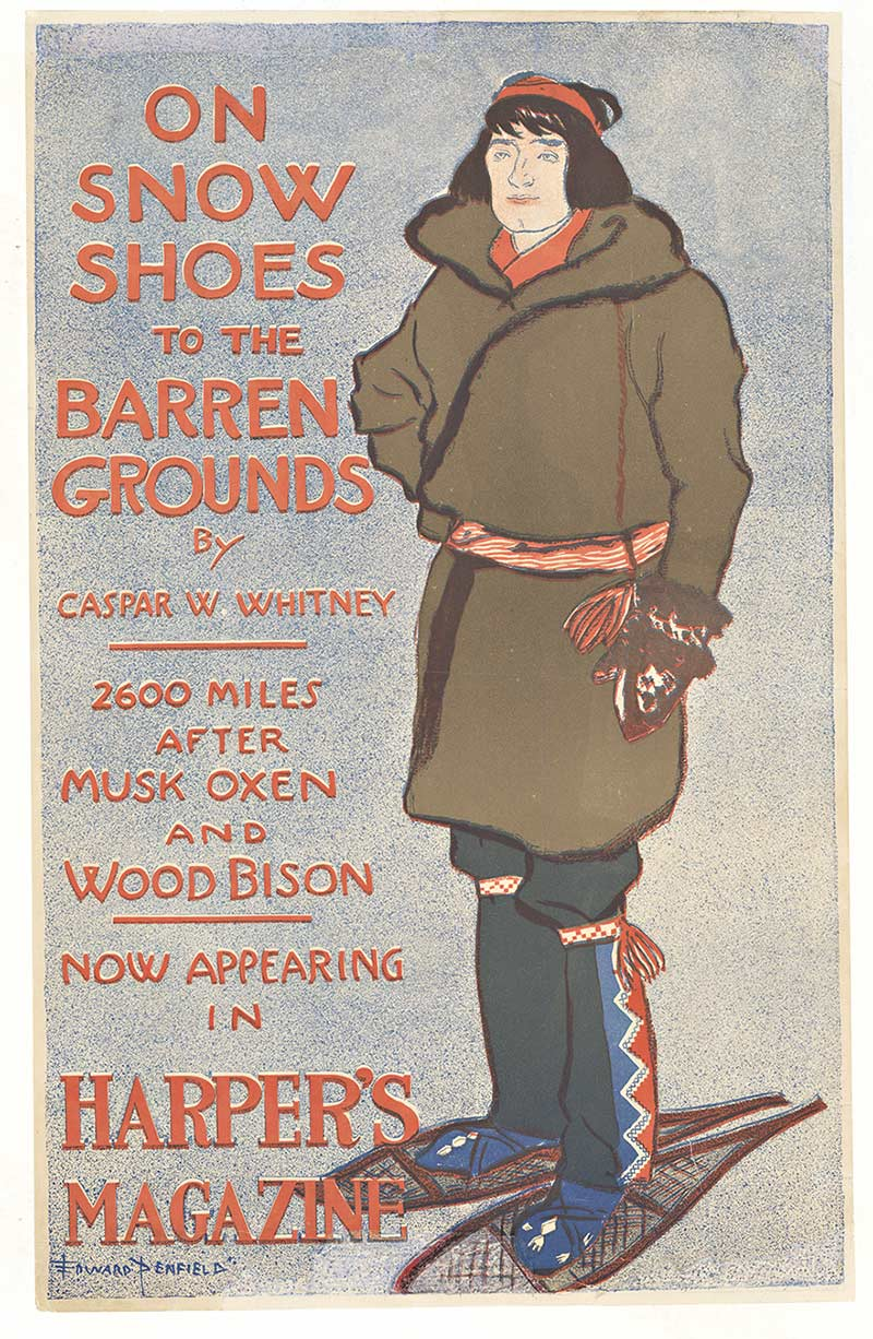 Harper's Magazine On Snow Shoes, Edward Penfield