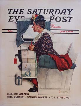 Norman Rockwell - Saturday Evening Post - early air travel border=