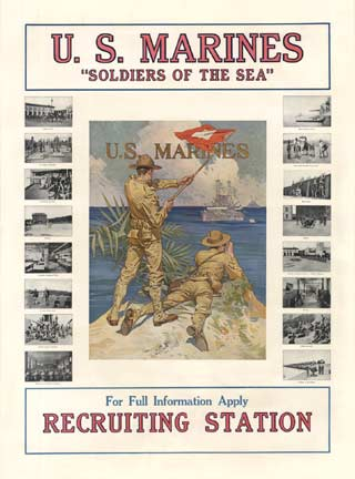 Soldiers of the Sea U. S. Marines, Joseph Christian Leyendecker