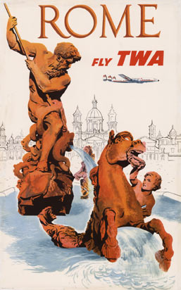 ROME Fly TWA - Trevi Fountain, David Klein