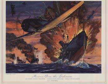 Marines Over the Solomons, Charles H. Hubbell