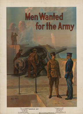 Men Wanted For The Army Fort Michael P Whelan The Vintage Poster
