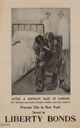 Louis Raemaekers - After a Zeppelin Raid in London border=