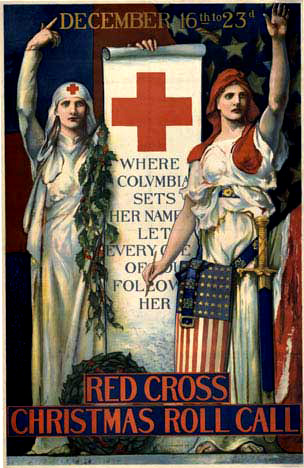 Red Cross Christmas Roll Call (Small), Edwin Howland Blashfield