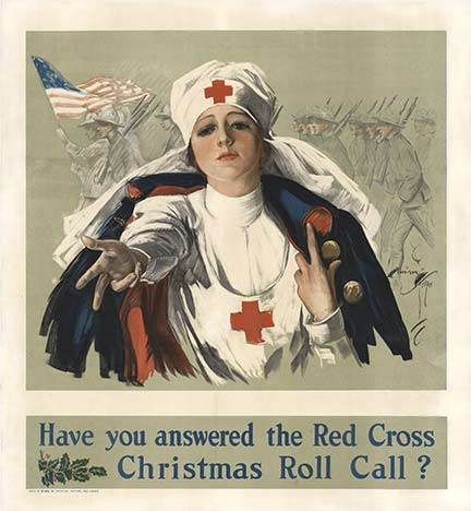 Harrison Fisher - Have you Answered The Red Cross border=