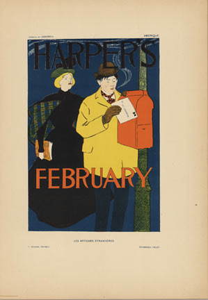 Harper's February, Edward Penfield