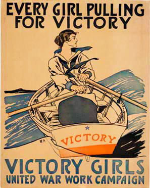 Edward Penfield - Victory Girls Every Girl Pulling for Victory border=