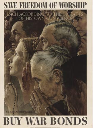 Freedom of Worship (Large), Norman Rockwell