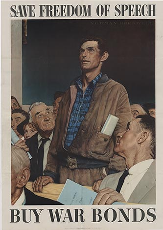 Freedom of Speech (Large), Norman Rockwell