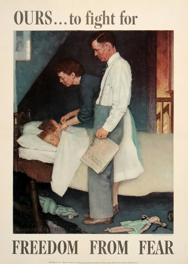 Freedom From Fear (Small format), Norman Rockwell