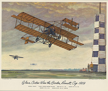 Curtiss Rheims Biplane, Charles H. Hubbell