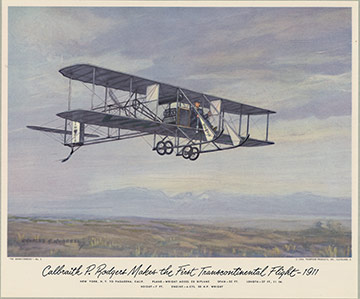 Wright Model EX Biplane, Charles H. Hubbell