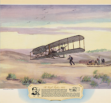 The Wright Biplane - 1903, Charles H. Hubbell