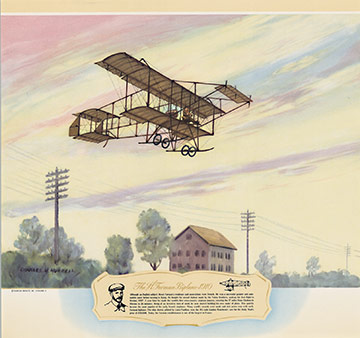 The H. Farman Biplane - 1910, Charles H. Hubbell