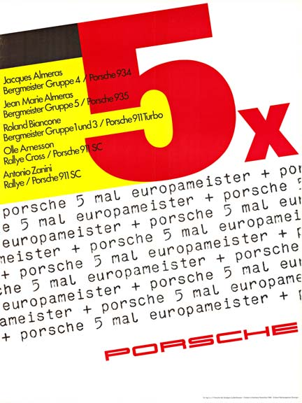 Porsche 5 Mal Europameister, Anonymous Artists