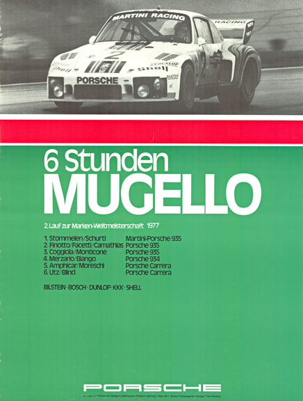 6 Stenden Mugello Porsche, Anonymous Artists