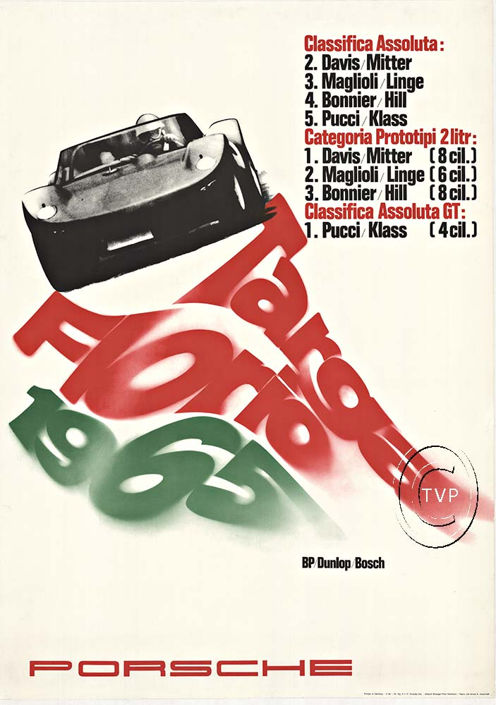 Anonymous Artists - Targa Florio 1965 Classifica Assoluta border=