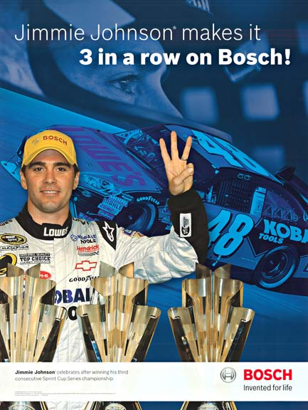 Jimmy Johnson makes it 3 in a Row Bosch, Anonymous Artists