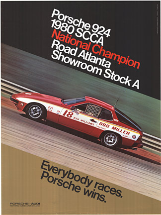 Porsche 924 1980 SCCA National Champion Road Atlanta Showroom Stock A, Anonymous Artists