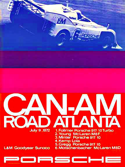 Erich Strenger - Can Am Road Atlanta July 9, 1972 border=