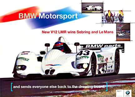 BMW Motorsport New V12 LMR wins Sebring and Le Mans, Anonymous Artists